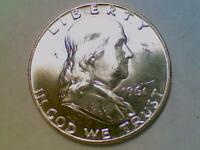 SILVER 50 CENTS1961 D FRANKLIN HALF DOLLAR BRILLIANT UNCIRCULATED BU