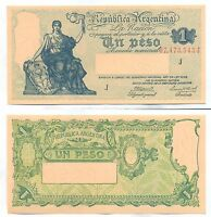 ARGENTINA NOTE 1 PESO 1944 GAGNEUX BOSCH B 1826 SERIAL J P 251C UNC
