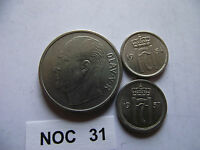 NORWAY NORGE. 2 COINS@10 ORE 19541957 & 1 KRONE 1970 NOC31