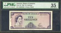 1960 JAMAICA BANK OF JAMAICA 10 SHILLINGS PMG 35  PLEASE