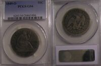 1849 O SEATED LIBERTY HALF DOLLAR PCGS G4