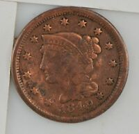 1849 BRAIDED HAIR LARGE CENT Z67
