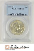 MS64 FBL 1959 D FRANKLIN HALF DOLLAR   GRADED PCGS