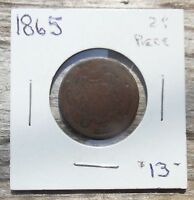 1865 TWO CENTS COIN