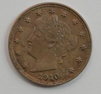 1910 LIBERTY HEAD NICKEL FIVE-CENT PIECE G82
