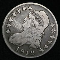 1812 CAPPED BUST HALF DOLLAR CHOICE FINE/VF  E276 FT