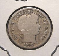 1909 BARBER DIME NICE CIRCULATED COIN WITH FULL RIMS UNCLEANED PATINA