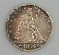 1854 O LIBERTY SEATED HALF DOLLAR ARROWS AT DATE Z05