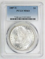 1887 S MORGAN SILVER DOLLAR MINT STATE 64 PCGS 3895