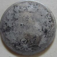 1883 CANADA SILVER TWENTY FIVE CENTS COIN. UJ37