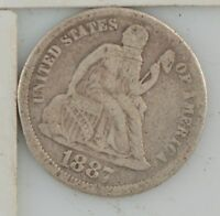 1887 LIBERTY SEATED DIME Z46
