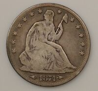 1874 P SEATED LIBERTY SILVER HALF DOLLAR G39