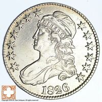 1826 CAPPED BUSTED HALF DOLLAR XB45