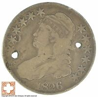 1826 CAPPED BUSTED HALF DOLLAR  CONDITION: HOLES XB07