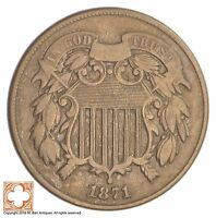 1871 TWO CENT PIECE XB03