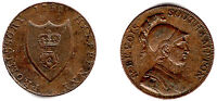 1787 GREAT BRITAIN   1791 ST BEVOIS SOUTHAMPTON PROMISSORY HALF PENNY   COPPER.
