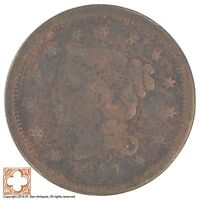 1841 BRAIDED HAIR LARGE CENT XB05