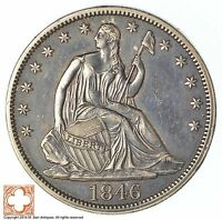 1846 SEATED LIBERTY SILVER HALF DOLLAR XB98