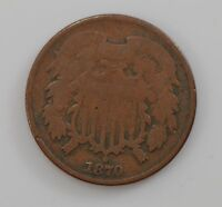 1870 TWO-CENT PIECE Q10