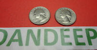 2  1776 1976 BICENTENNIAL QUARTERS 25 CENTS COIN MONEY CURRENCY COLLECTIBLE