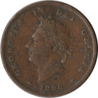 1826 GREAT BRITAIN UK 1 PENNY LARGE COIN GEORGE IV KM693