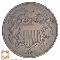 1864 TWO CENT PIECE XB30