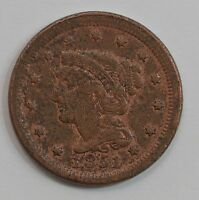1851 BRAIDED HAIR LARGE CENT G36