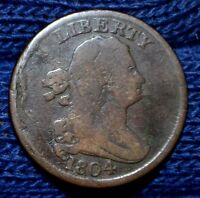 1804 HALF CENTSPIKED CHINVERY GOOD