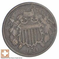 1864 TWO CENT PIECE XB58