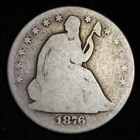 1876 CC SEATED LIBERTY HALF DOLLAR CHOICE G  E342 EL