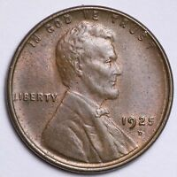 1925-D LINCOLN WHEAT CENT PENNY CHOICE BU SHIPS FREE E144 ET