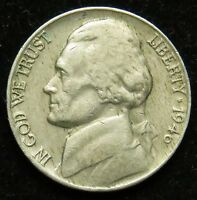 1946 JEFFERSON NICKEL VF FINE B03