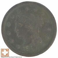 1848 BRAIDED HAIR LARGE CENT XB62