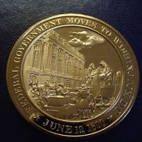 1800 U.S. GOVERNMENT RELOCATES TO D.C. FRANKLIN MINT SOLID BRONZE UNCIRCULATED
