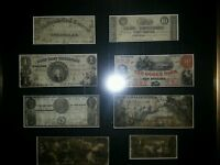 1800S TENNESSEE  OBSOLETE BANK NOTES FRAMED EXCELLENT CONDITION