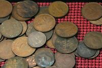 ONE POUND OF COPPER AND BRONZE CIRCULATED WORLD COINS 1800'S & 1900'S  NUM2496