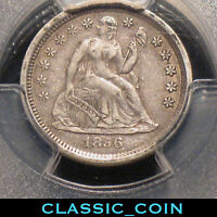 1856 SILVER SEATED LIBERTY DIME 10C PCGS XF40 160 YEARS OLD SMALL DATE F 109