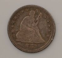 1877 LIBERTY SEATED QUARTER DOLLAR VARIETY 4 G31