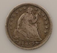 1854 LIBERTY SEATED HALF DIME ARROWS AT DATE G72