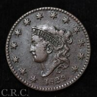 1829 CORONET HEAD LARGE CENT 1C XF