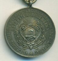 ARGENTINA SILVER MEDAL PRIZE FOR ALLIES IN PARAGUAY WAR 1865 1870 BRAZIL URUGUAY
