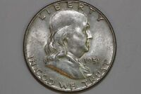 GRADES ABOUT UNCIRCULATED SLIDER 1951 P FRANKLIN SILVER HALF DOLLAR FHX888