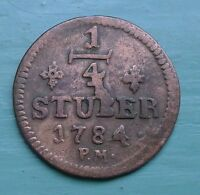 GERMANY STATES JULICH BERG 1/4 STUBER 1784 KM205