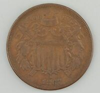 1867 TWO-CENT PIECE Z15