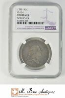 VF DETAILS 1795 FLOWING HAIR HALF DOLLAR   GRADED NGC XC81
