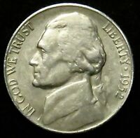 1952 S JEFFERSON NICKEL F FINE B03