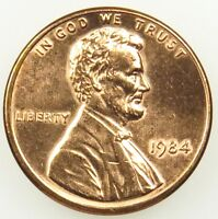 1984 UNCIRCULATED LINCOLN MEMORIAL CENT PENNY BU B05