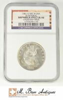 1861 O SEATED LIBERTY HALF DOLLAR NGC SS REPUBLIC SHIPWRECK EFFECT AU SC34