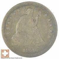 1859 SEATED LIBERTY SILVER QUARTER SB91