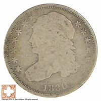 1830 CAPPED BUST DIME XB76